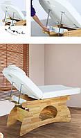 Массажный стол двух секционный на деревянном основании кушетка для массажа для косметологии для салона ZD-853