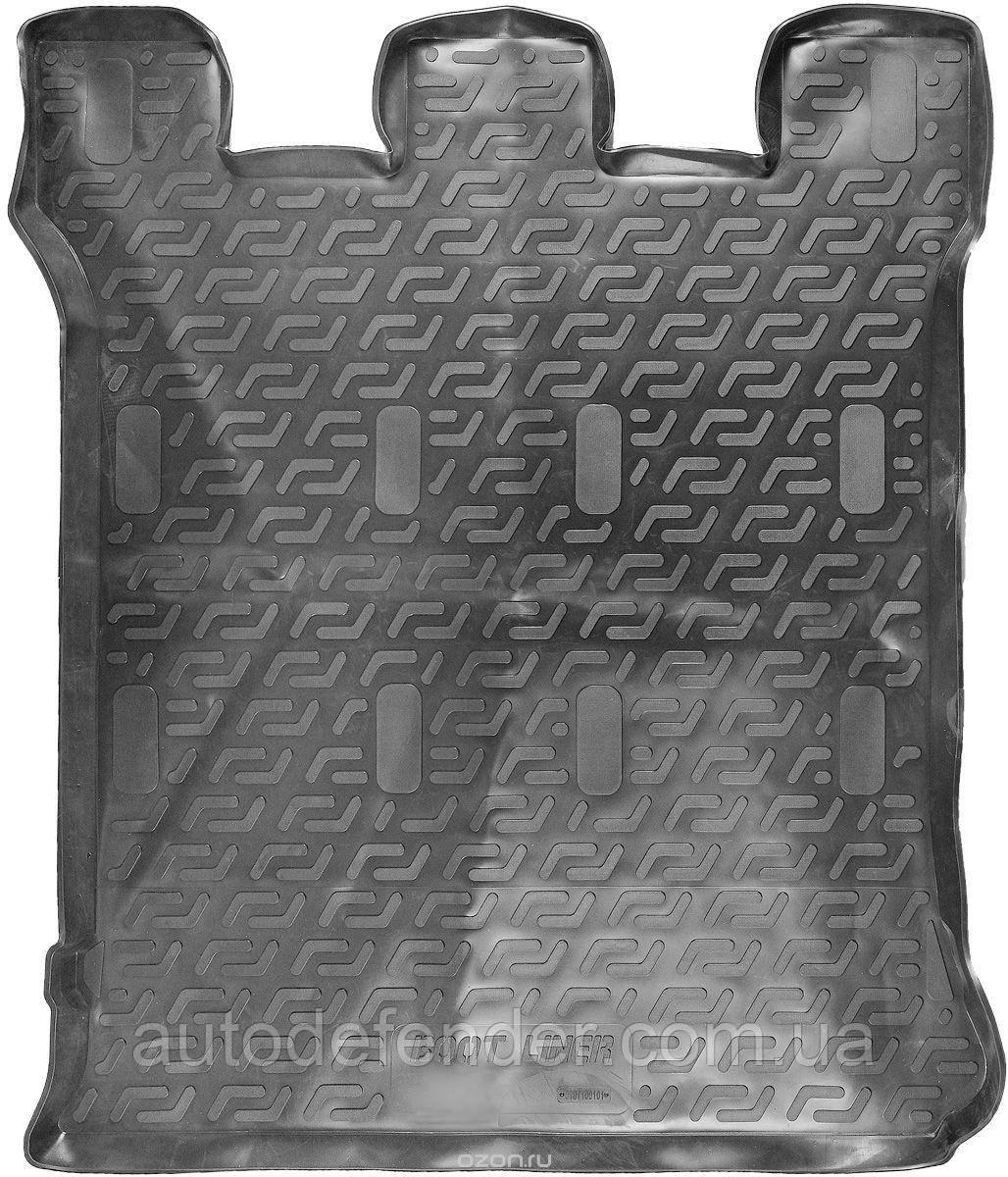 Килимок в багажник для Volkswagen Sharan 2001-10, резино/пластиковий (Lada Locker)