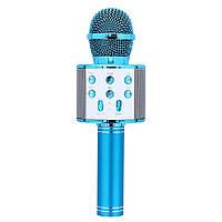 Беспроводной микрофон-караоке WSTER WS-858 Blue (12309)