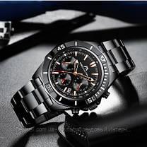 Часы оригинальные мужские наручные кварцевые Megalith 8206M All Black / часы оригинальные черные, фото 2