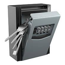 Мини сейф для ключей с кодовым замком и антивандальным металлическим корпусом Badoo Security T10