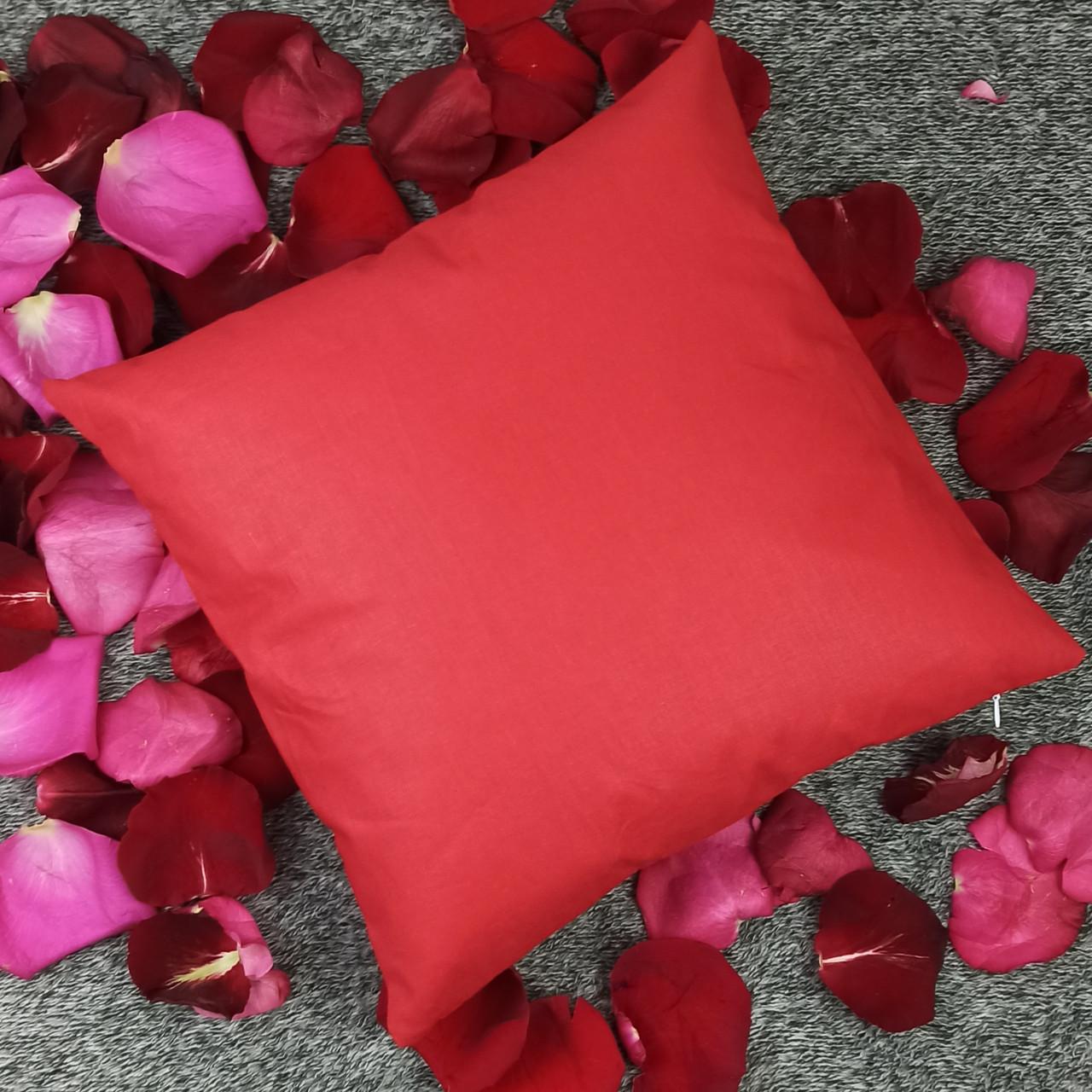 Подушка, 40*40 см, (хлопок), (красный)