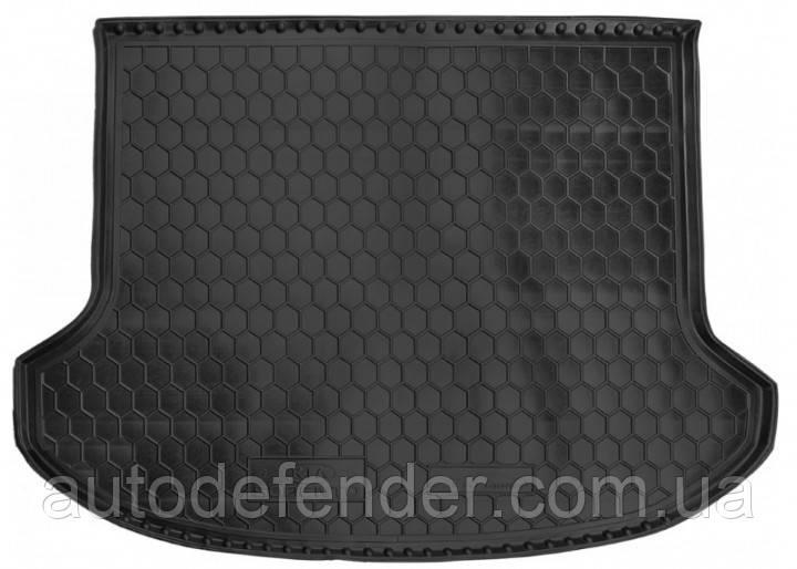 Коврик в багажник для Kia Sorento II 2009-2015 XM (7мест), резиновый (полиуретановый) Avto-Gumm