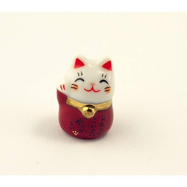 Манеки-неко «Кот удачи» красный
