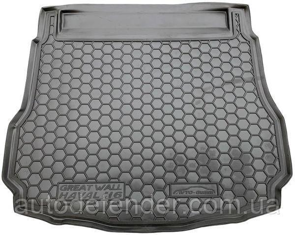 Коврик в багажник для Great Wall Hover Haval H6 2012-2017, резиновый (полиуретановый) Avto-Gumm