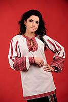 Женская вышитая блуза белая, размер 44