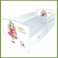 """Кровать для девочки с бортиками   серии """"Киндер Cool"""" Маленькая принцесса"""