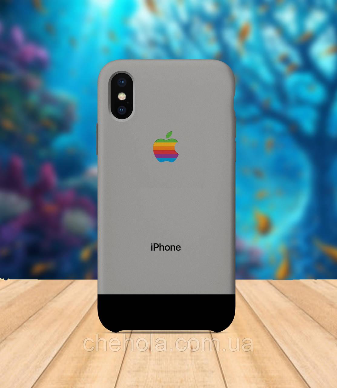 Чехол для apple iphone x XS max Iphone  серый чехол с принтом