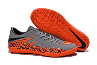 Футзалки (бампы) Nike HyperVenom Phelon II IC Wolf Grey/Total Orange/Black/Black