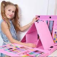 Набор для творчества 208 предметов розовый