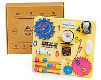 Бизиборд BrainUp Smart Busy Board настольная развивающая игра доска из 10 деталей Mini 28 * 25 см
