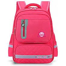 Школьный ортопедический рюкзак с пеналом | портфель для девочки 3-6 класс (9-10-11-12 лет) розовый коралл