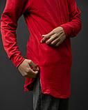 Пара удлинённых худи красное + серое DNK MAFIA, фото 6