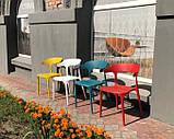 Пластиковый стул Lucky красный кармин (бесплатная доставка), фото 4