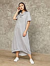 2462 платье Камелия, серый (S), фото 2