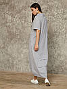 2462 платье Камелия, серый (S), фото 3