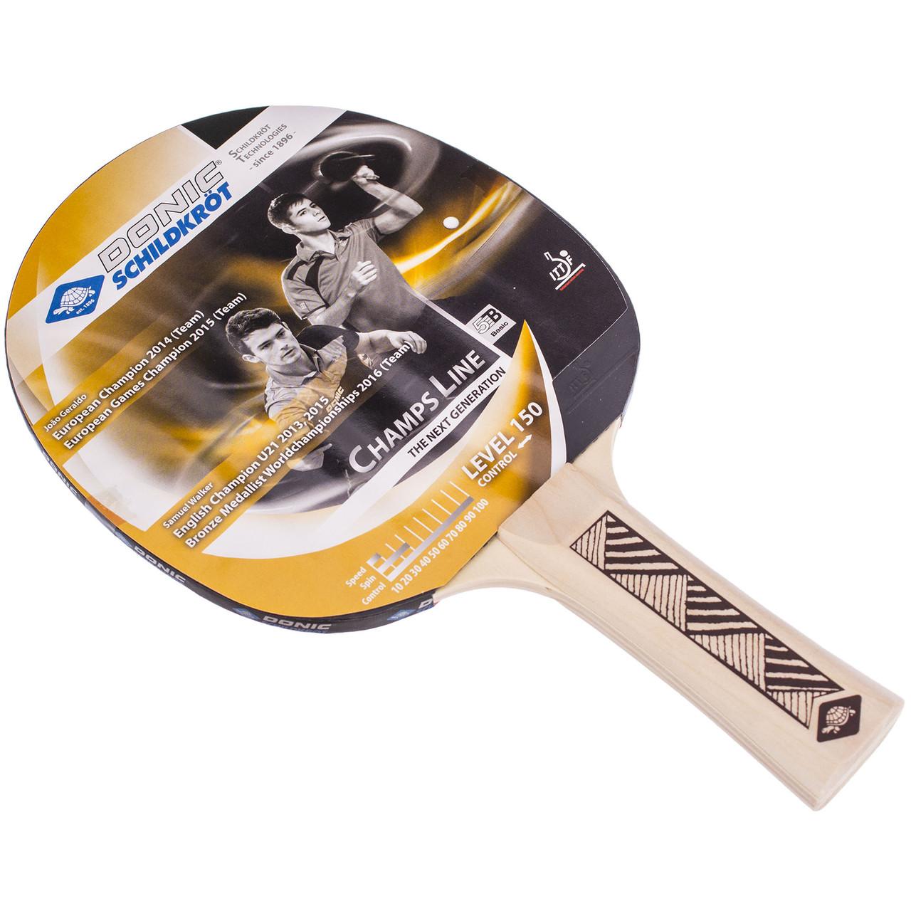 Ракетка для тенниса настольного (1 шт) DONIC LEVEL 150 MT-705116