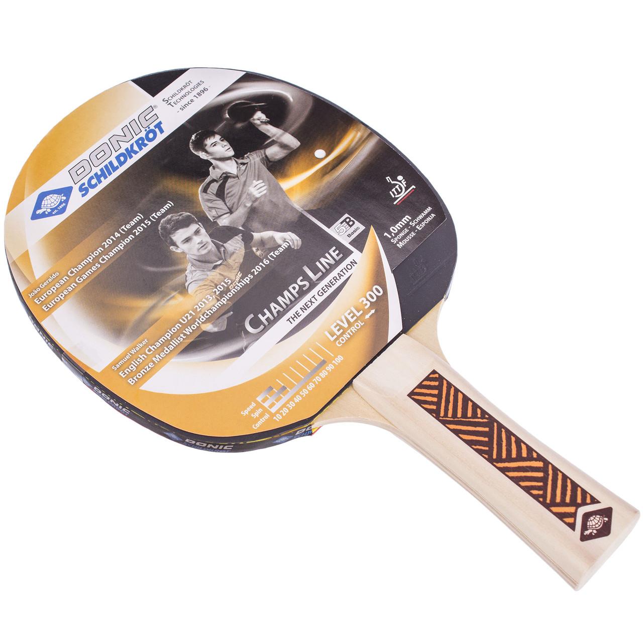 Ракетка для тенниса настольного (1 шт) DONIC LEVEL 300 MT-705132