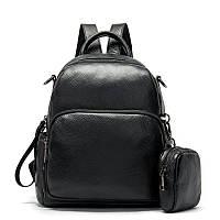 Рюкзак кожаный женский флотар Vintage 14865 Черный