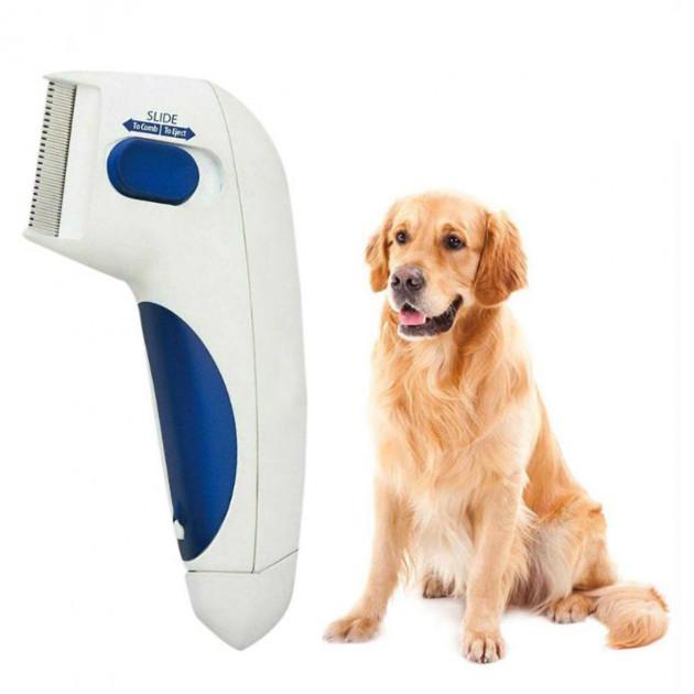 Электрическая расческа для животных с функцией уничтожения блох Flea Doctor Super Pro Белый, фото 3