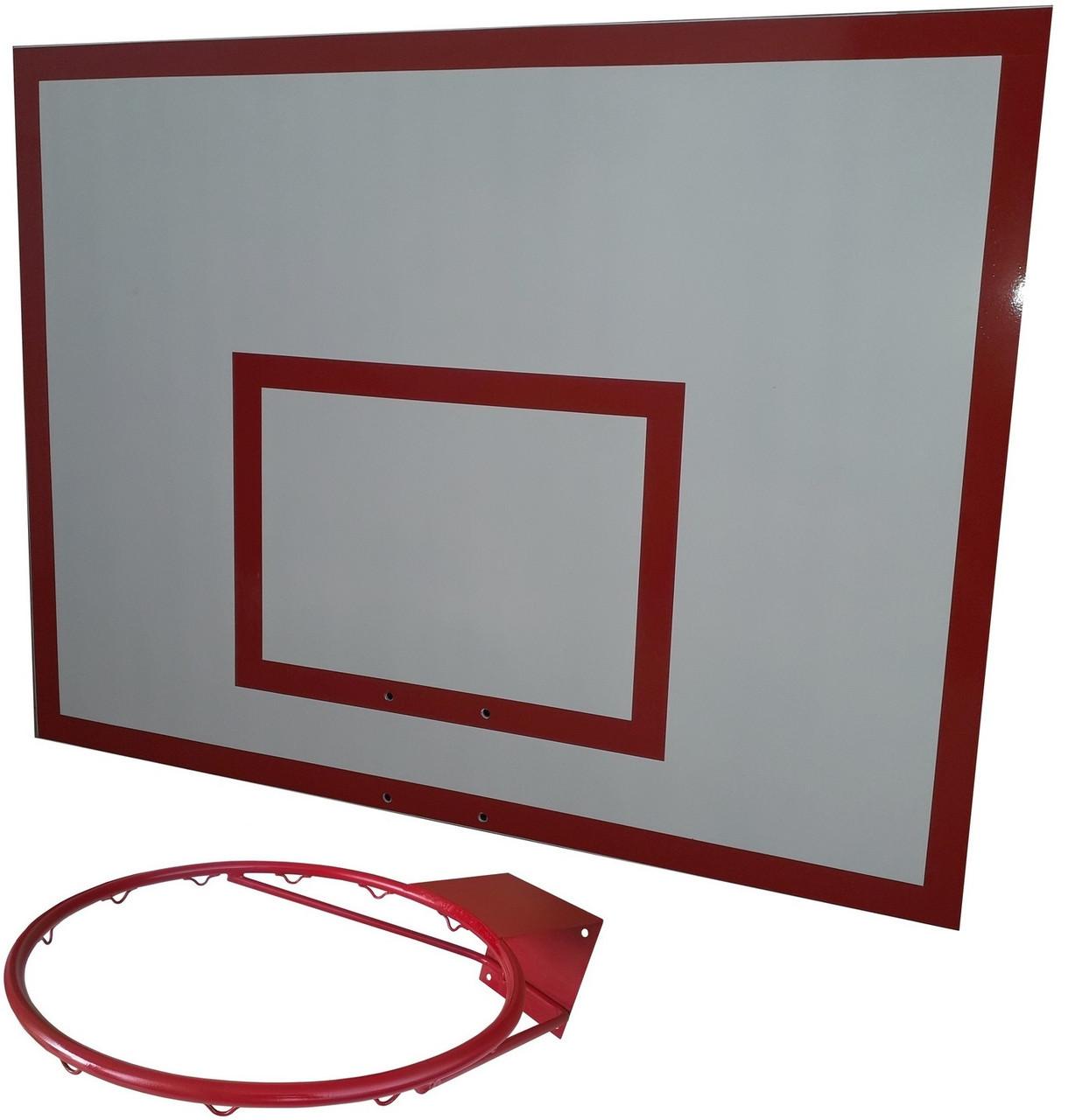 Щит баскетбольный металлический (90*120 см) с кольцом d=45 см  Бм-120(БК-100)