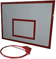 Щит баскетбольный металлический (90*120 см) с кольцом d=45 см  Бм-120(БК-100), фото 1