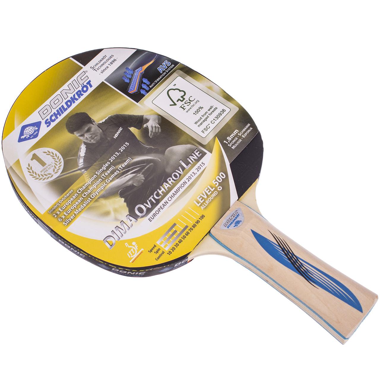 Ракетка для настольного тенниса (1 шт) DONIC LEVEL 500 MT-714405
