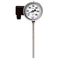 Манометрический термометр с электрическим выходным сигналом Модель 76 с биметаллическим термометром