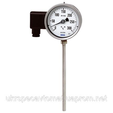 Манометрический термометр с электрическим выходным сигналом Модель 76 с биметаллическим термометром, фото 2