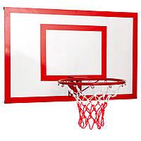 Баскетбольный щит с кольцом и сеткой 100x67см LA-6298