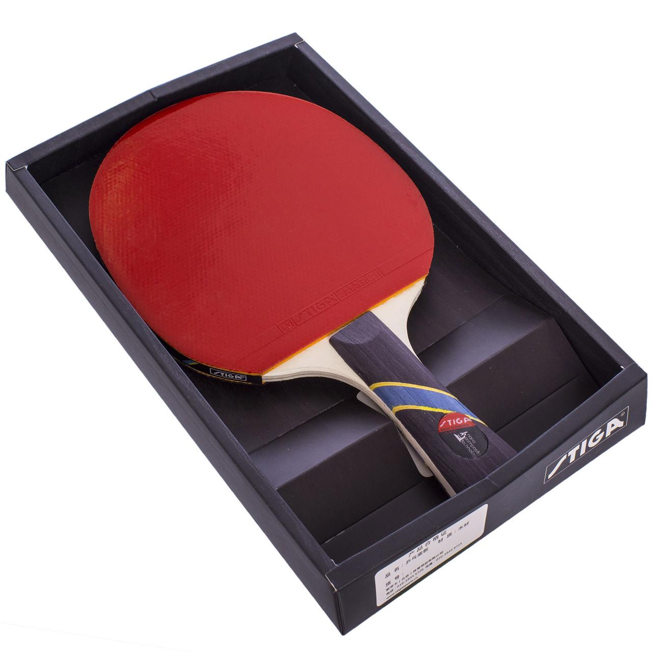 Ракетка для тенниса настольного 1 штука в цветной коробке STIGA MT-7137
