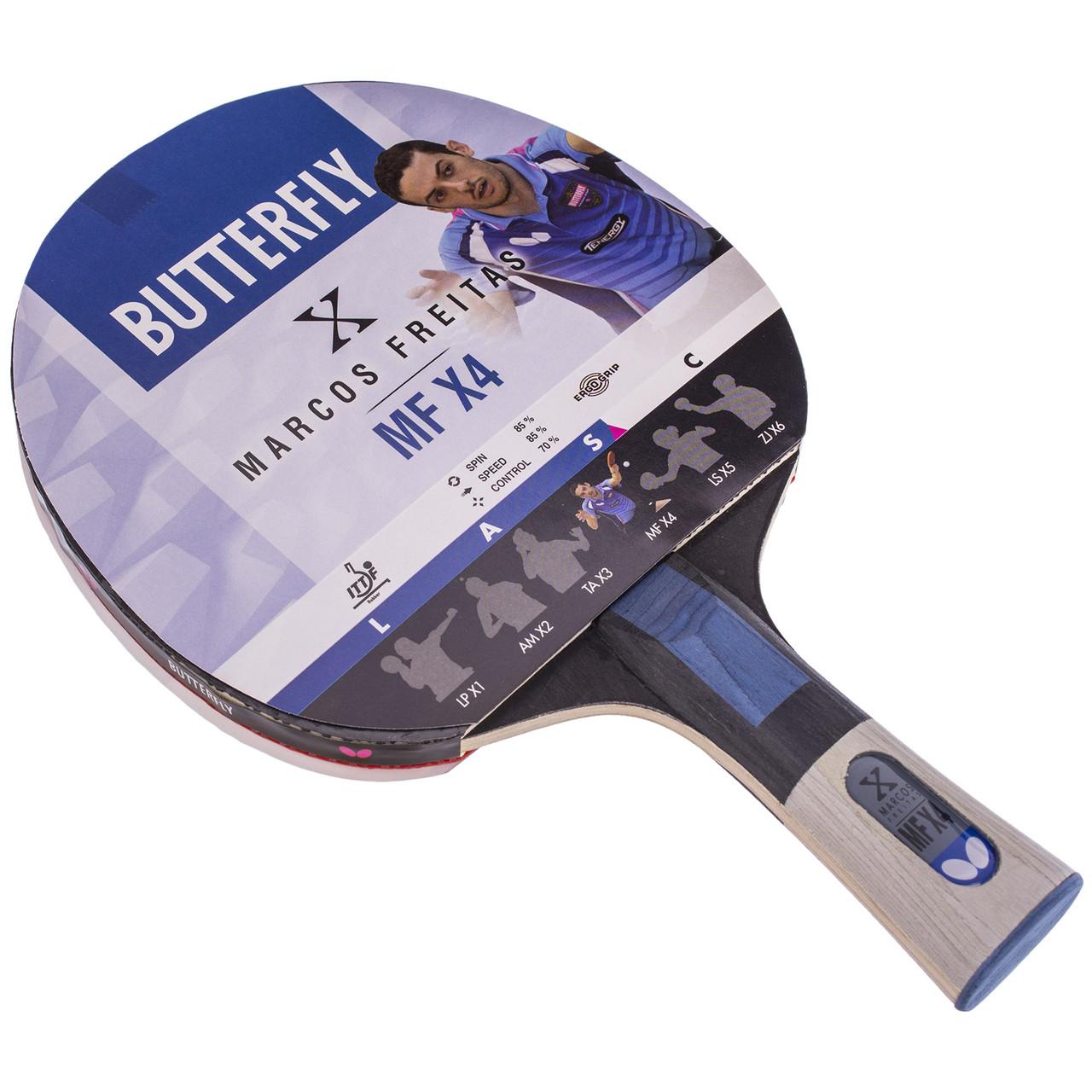Ракетка для тенниса настольного 1 штука BUTTERFLY MARCOS FREITAS MFX4 85083