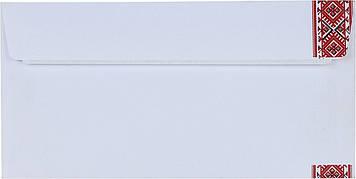 Конверт пошт. E65/DL (0+0) скл. орнамент вишивка №2042с_1(500)