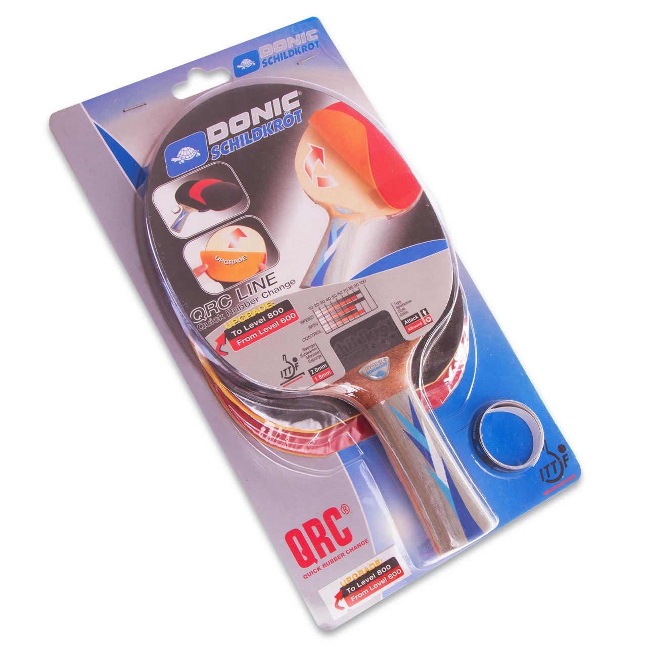 Ракетка с накладками для настольного тенниса DONIC Уровень 600-800 МТ-752518