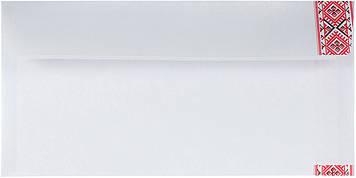 Конверт пошт. E65/DL (0+0) скл. орнамент вишивка №2042с_1(100)