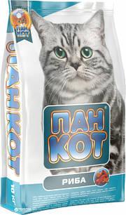 Пан Кіт Риба 10 кг сухий повноцінний корм для котів рибний, сухий Риба