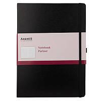 "Блокнот A4 100арк. кліт. карт. обкл ""Partner Grand"" чорний №8203-01/Axent/"