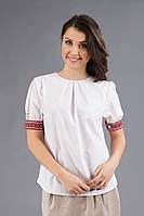 Женская вышитая футболка, размер 44