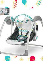 Детский укачивающий центр Mastela 6503 Качели с рождения Шезлонг качалка 0+ 5 скоростей таймер 1