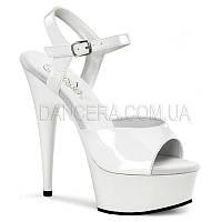 Босоножки на каблуке белые DELIGHT 609