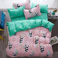 Комплект постельного белья панда (двуспальный-евро) berni home Berni Home