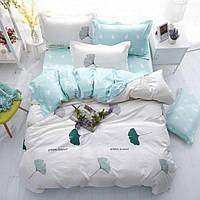 Комплект постельного белья зеленое сердце (двуспальный-евро) berni home Berni Home