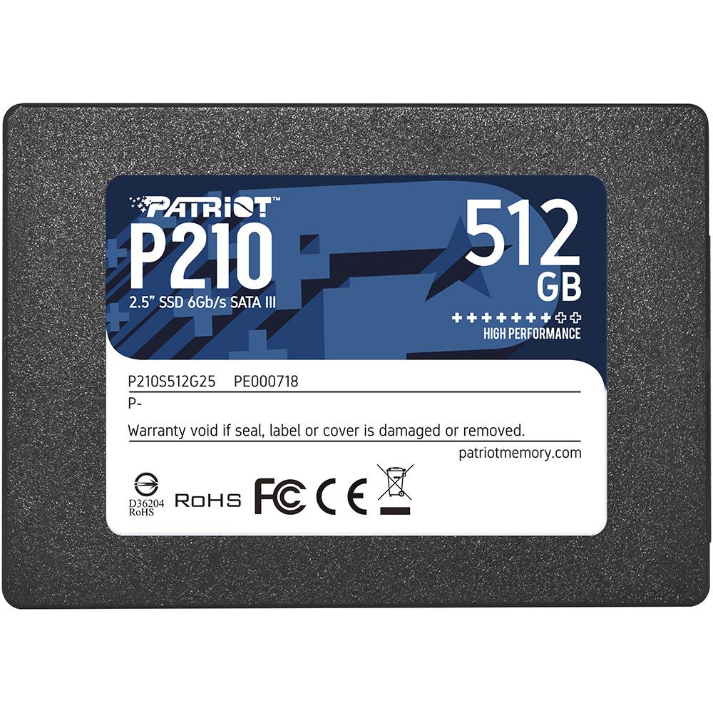 """Внутренний накопитель SSD 2.5"""" 512GB Patriot P210 (P210S512G25)"""
