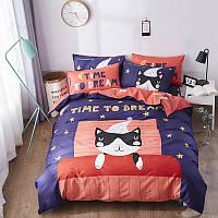 Комплект постельного белья с простынью на резинке время мечтать (двуспальный-евро) berni home Berni Home