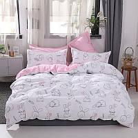 Комплект постельного белья зайчик и морковка (двуспальный-евро) berni home Berni Home
