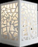 Светильник декоративный ажурный 150*150*220мм каменный Solid surface