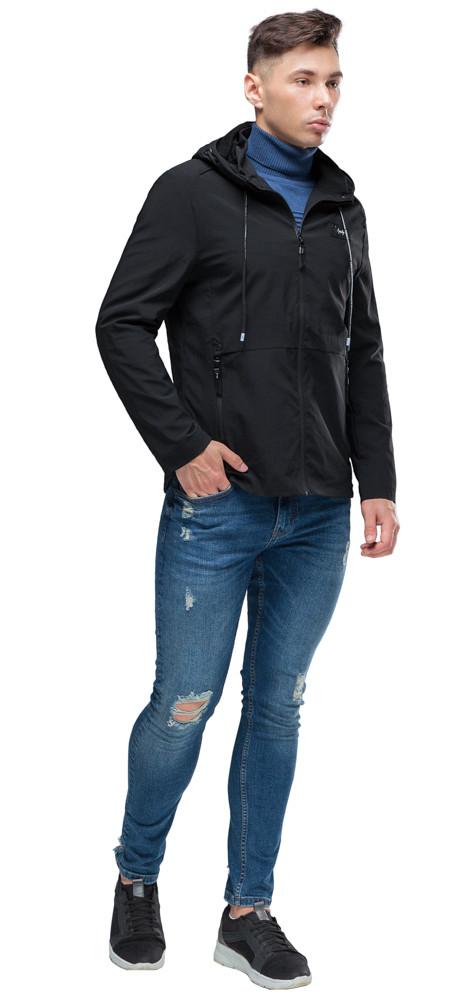 Мужская черная осенне-весенняя молодежная ветровка модель 24242