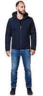 Куртка осенне-весенняя мужская темно-синего цвета модель 2686, фото 1