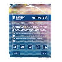 Губка Universal Естем пенная N1 одноразовая с дерматологическим гелем