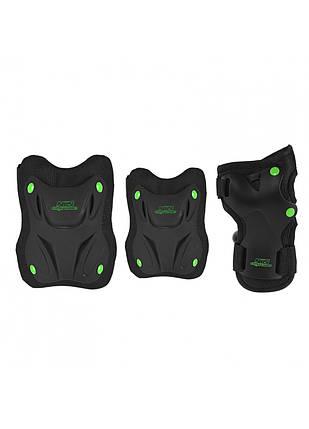 Комплект защитный Nils Extreme H407 Size L Black/Green, фото 2
